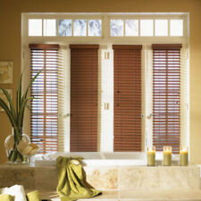 "SET OF 2 - 2"" FAUXWOOD BLINDS 9"" WIDE x 85"" to 96"" LENGTHS - 5 GREAT COLORS!"