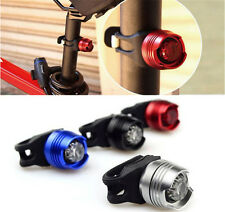 Hot Bike Bicycle Red LED Rear Light 3 modes Waterproof Tail Lamp Lights+Battery