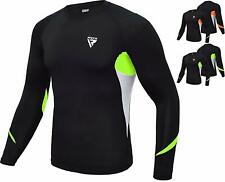 RDX MMA Rash Guard Armour Base Layer Compression Shirt Weight Loss Running Gym M