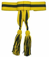 Sash Army Military Band  Sash Waist Belt  Ceremonial Sash Yellow Green  R1782