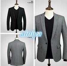 men jacket hot sell fashion handsome style Wool blend fabric jacket one button l