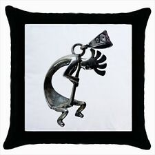 Kokopelli Fertility God Throw Pillow Case Set (x2) - Decorative Toss Pillow