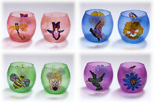 Tealight Tealight Holder Candleholder Candle Holder Candle Handpainted Glass