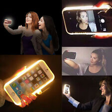 Back For iPhone 5 5S Newest Selfie Luminous Phone LED Light Up Hard Case Cover