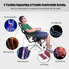 Adjustable Mesh Ergonomic Office Chair Lumbar Support +Footrest + Headrest P1K4