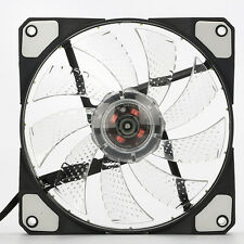 New 3-Pin/4-Pin 120mm Computer PC Case Cooling Fan Cooler with Quad 15 LED Light