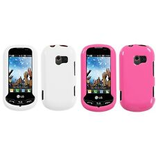 For LG Extravert VN271 Rigid Plastic Hard Snap-On Case Phone Cover
