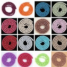 4,6,8,10mm Faux Pearl Glass Spacer Charm Loose Beads Jewelry Craft Findings Gift