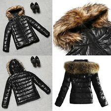Women Fashion Hooded Long Sleeve Solid Zip-up Slim Thick Jacket Coat Outerwear