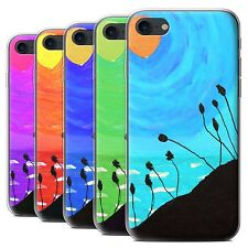 STUFF4 Gel/TPU Case/Cover for Apple iPhone 7/Sunset Oil Painting