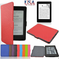 Slim Smart Magnetic Leather Case Cover  Screen Film For Amazon Kindle Paperwhite