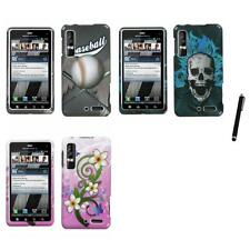 For Motorola Droid 3 XT862 Design Snap-On Hard Case Phone Cover Stylus Pen