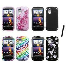 For HTC Amaze 4G Design Snap-On Hard Case Phone Cover Stylus Pen