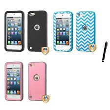 For Apple iPod Touch 5th 6th Gen Hard TUFF IMPACT Case Rugged Armor Stylus Pen