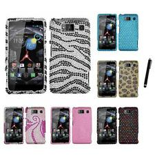 For Motorola Droid Razr HD XT926 Diamond Bling Rhinestone Case Stylus Pen
