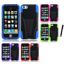 For Apple iPhone 5C Hard Stand Soft Silicone Skin Case 2-Piece Cover Stylus Pen