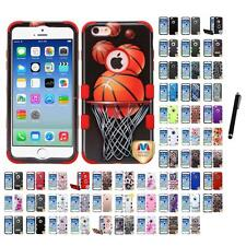 For iPhone 6/6S [4.7] Hybrid TUFF IMPACT Phone Case Hard Rugged Cover Stylus Pen