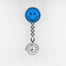 Cute Smile Face Clip-on Nurse Doctor Brooch Pendant Fob Pocket Quartz Watch MXT