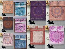3 PCs Indian Mandala Tapestry Bed Spread Sheet Set Queen Size Bedding Throw