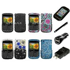 For BlackBerry Curve 8530 / 8520 Diamond Diamante Rhinestone Case Charger Stylus