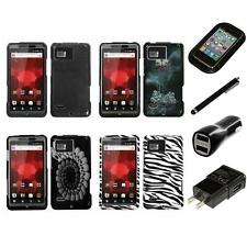 For Motorola Droid Bionic XT875 Design Snap-On Hard Case Phone Cover Charger