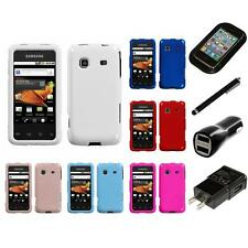 For Samsung Galaxy Prevail M820 Rigid Plastic Hard Snap-On Case Cover Charger