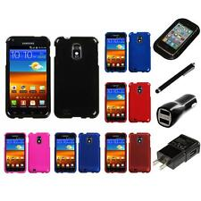 For Samsung Epic Touch 4G D710 Snap-On Hard Case Phone Skin Cover Charger Stylus