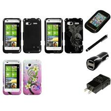 For HTC Radar 4G / Omega Design Snap-On Hard Case Phone Cover Charger Stylus
