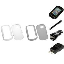For LG Extravert VN271 Crystal Hard Snap-On Transparent Case Cover Charger