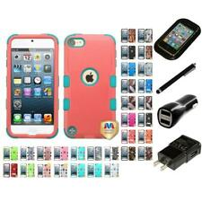 For Apple iPod Touch 5th 6th Gen Hybrid TUFF IMPACT Case Hard Cover Charger