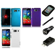 For Motorola Droid Razr HD XT926 Matte Snap-On Hard Case Cover Charger Stylus