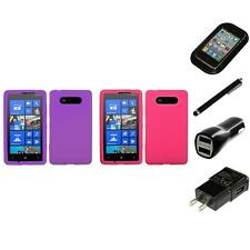 For Nokia Lumia 820 Silicone Skin Rubber Soft Case Phone Cover Charger Stylus