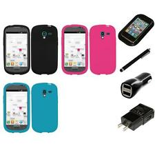 For Samsung Galaxy Exhibit T599 Silicone Skin Rubber Soft Case Cover Charger