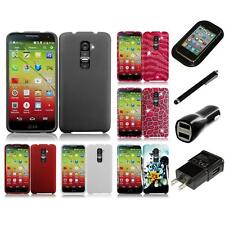 For LG G2 Mini D620 Rubberized Matte Snap-On Hard Case Phone Cover Charger