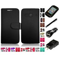 For Alcatel One Touch Evolve 2 Wallet Case Holder Card Pockets Slots Charger