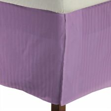 One Bed Skirt/valance 100% Egyptian Cotton 15 Inch Drop 1000 TC Lavender Stripe