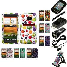 For HTC EVO 4G LTE Design Snap-On Hard Case Phone Cover Accessories