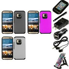 For HTC One M9 Slim-Grip Shockproof 2-Piece Hard Case Cover Accessories
