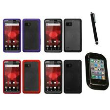 For Motorola Droid Bionic XT875 TPU Hard Case Skin Phone Cover Mount+Pen