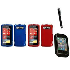 For HTC Trophy T8686 Rigid Plastic Hard Snap-On Case Phone Cover Mount+Pen