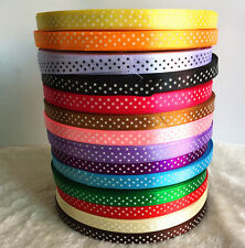 10/30Y Satin Ribbon Bow Home Party Wedding Supplies Hair Bow DIY Sewing Craft