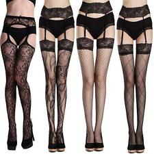 Leggings Belt Mesh Fishnet Sexy Stockings Open Crotch Thigh-Highs Long Socks