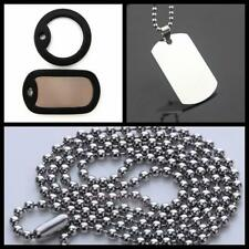 Ball Bead Chain Mens Military Army Steel Stainless Pendant Dog Tag