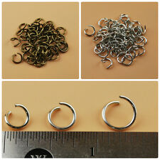Round Open Jump Rings Thick Connector Link Attach Charm Clasp Finding 18 Gauge