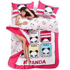 "Cute Pink And White ""Hi Panda "" Emoji Print Single/Queen/King Bed Set"