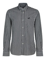 Fred Perry Men's Reissues Gingham Check Shirt - Black