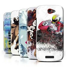STUFF4 Back Case/Cover/Skin for HTC One S/Fragments
