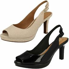 Ladies Clarks Heeled Sandals Mayra Blossom