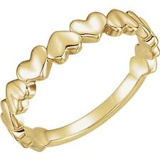Stackable Heart Ring in 14k Yellow Gold