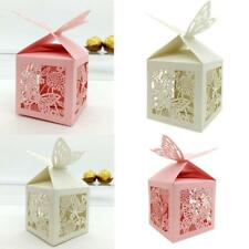 20pcs Romantic Wedding Party Favors Decor Butterfly DIY Candy Cookie Gift Boxes